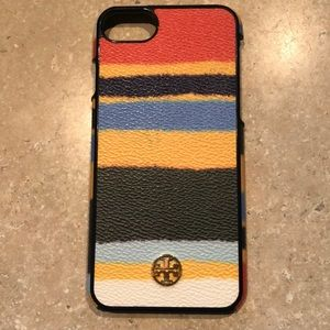 Tory Burch balloon stripe iPhone 7/8 phone case.